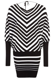 zwart wit gestreept lente kleedje
