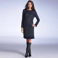 Zakelijke jurk Redoute Creation blauw | Kleedjes.be