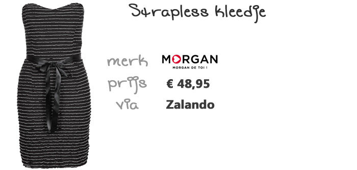 Strapless kleedje Morgan | Kleedjes.be