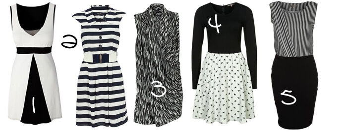 Zwart wit jurkjes   Kleedjes.be