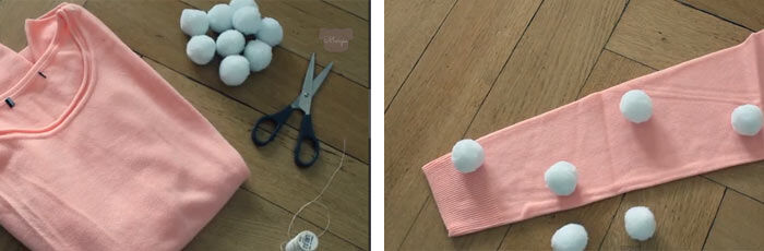 DIY pompom trui