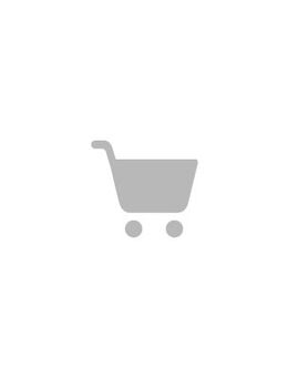 Long sleeve dress with self belt in large scale floral - Navy